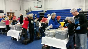 Ankeny Christian Academy meal packaging event