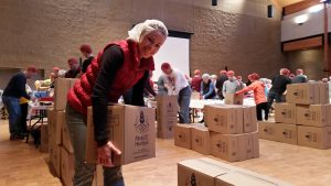 st francis of assisi church and school, des moines iowa, meals packaging event